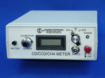 Portable O2, CO2, CH4 Gas Meter