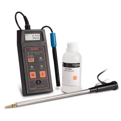 Soil Conductivity Sensor and Meter
