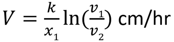 slow rates of flow equation