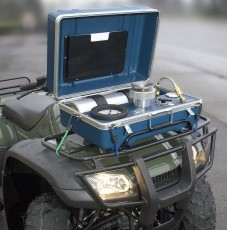 Models 615 and 615D are highly portable on quad bikes or can be carried over the shoulder.